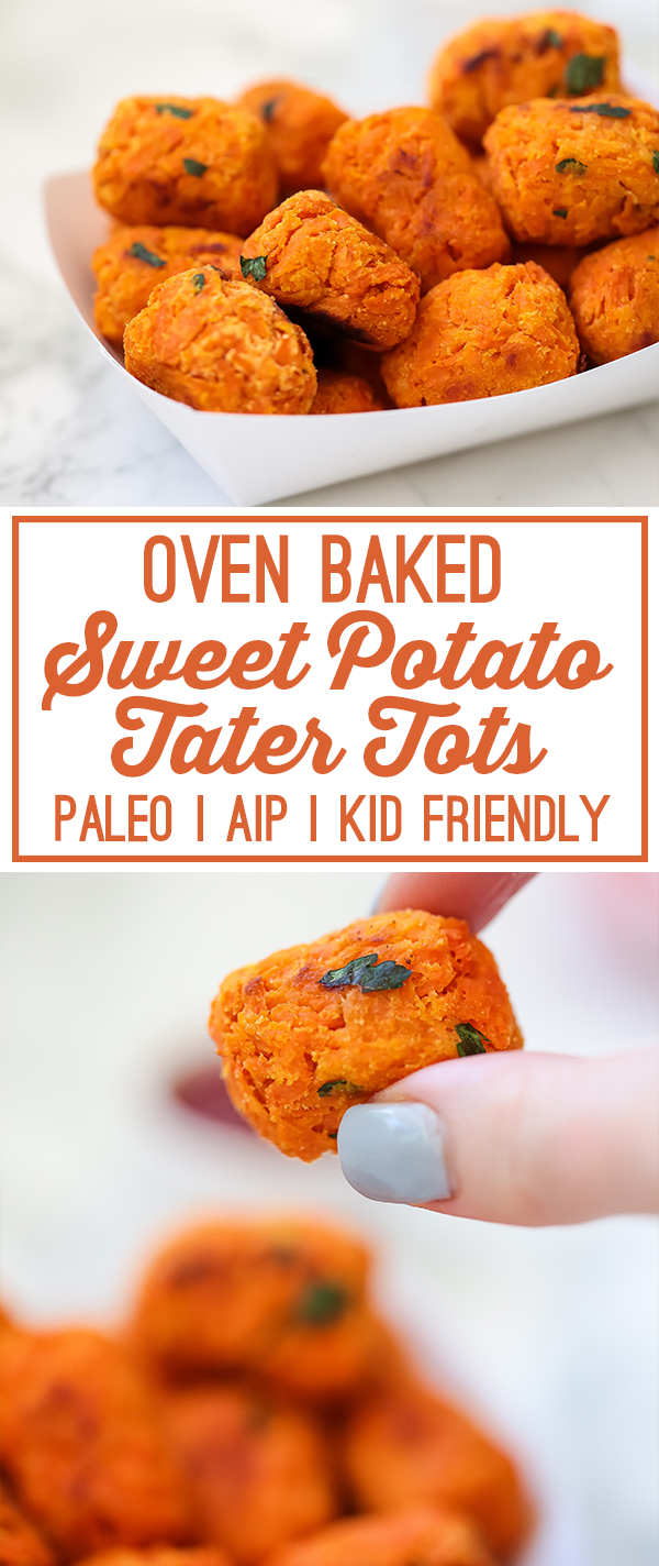 Baked Sweet Potato Tater Tots (Paleo, AIP, Kid Friendly)
