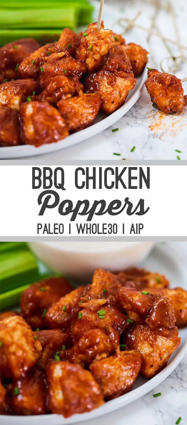 BBQ Chicken Poppers (Paleo, Whole30, AIP)