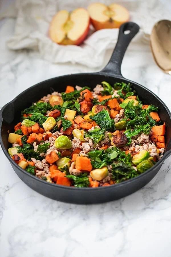 Turkey & sweet potato breakfast hash