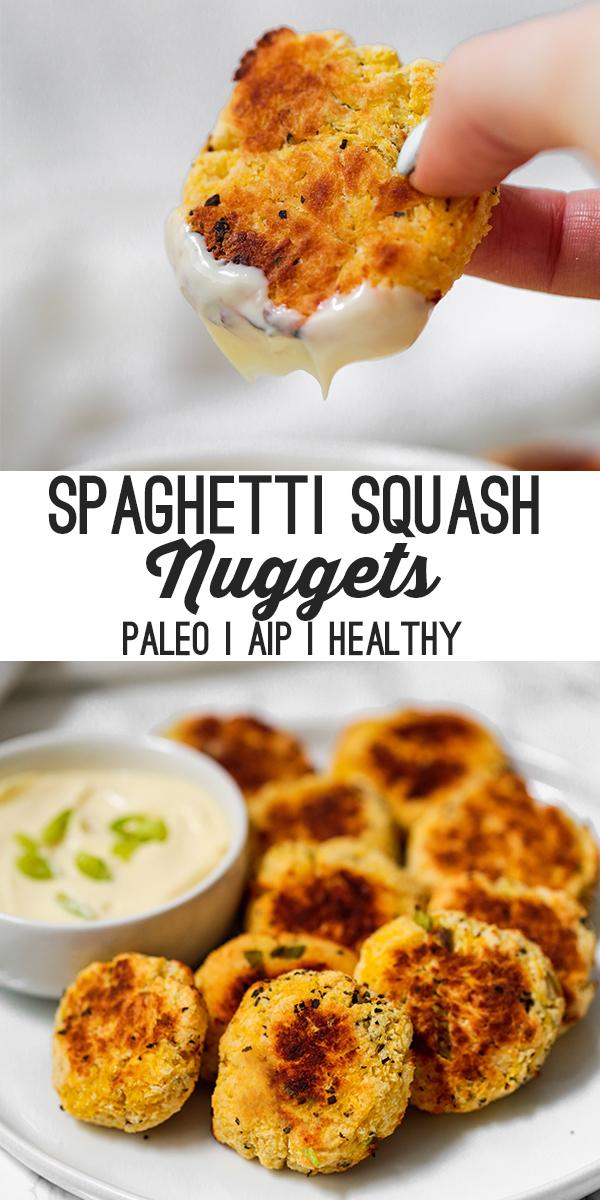 spaghetti squash nuggets pin