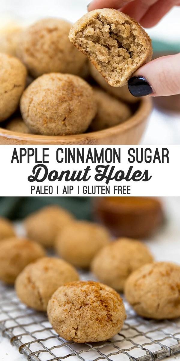paleo cinnamon sugar donut holes