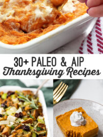 30 + paleo & AIP thanksgiving recipes