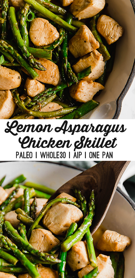 One Pan Lemon Asparagus Chicken Skillet