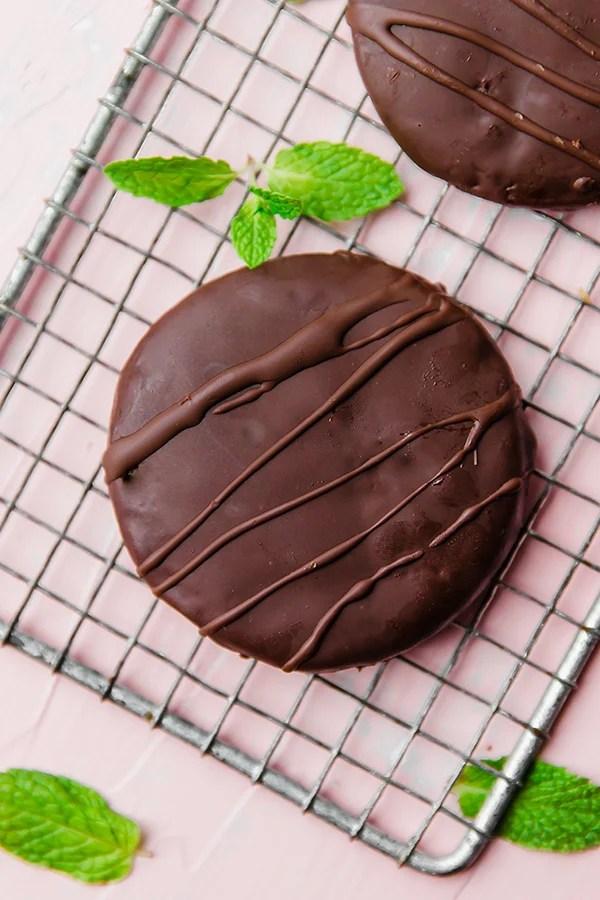 Paleo & AIP Thin Mint cookies