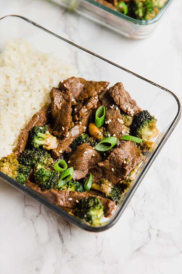 beef and broccoli meal prep