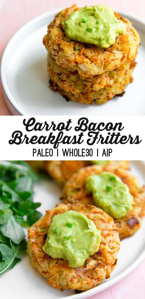 Carrot Bacon Breakfast Fritters