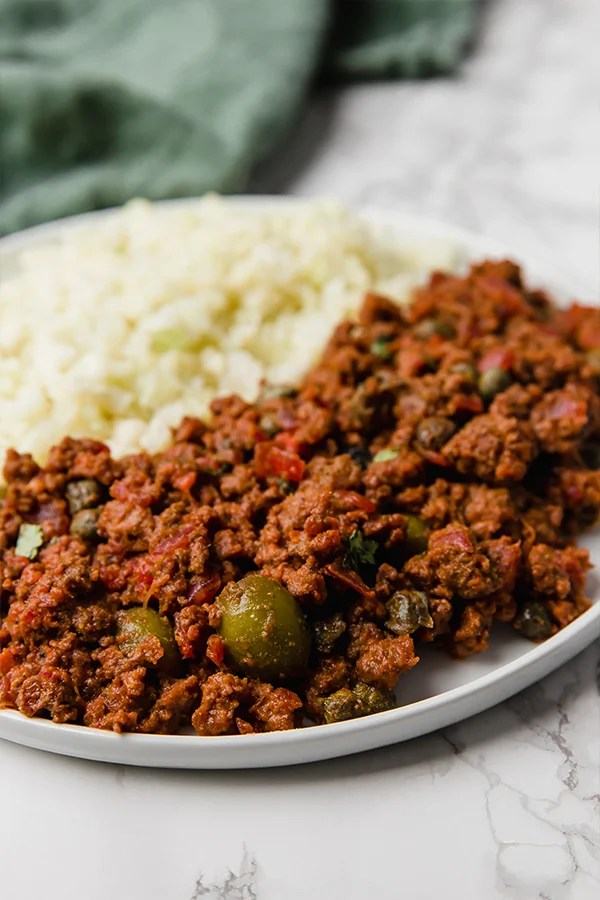 Picadillo with cauliflower rice