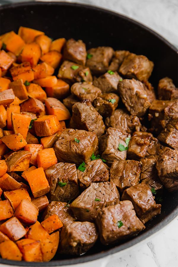 One Pan Steak & Sweet Potato