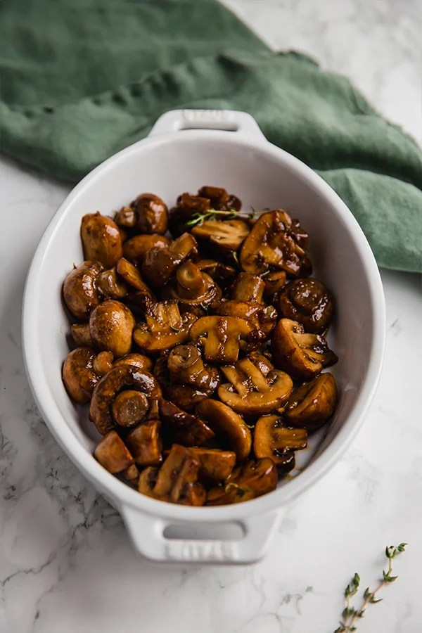 Garlic balsamic mushrooms