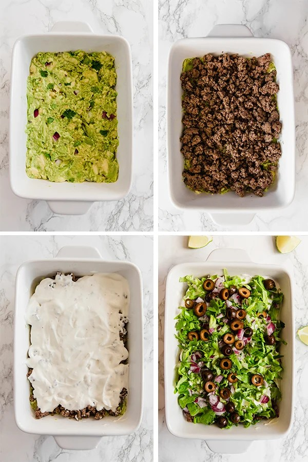 Taco dip step by step