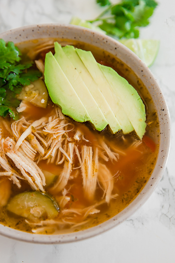 Instant Pot Chicken No Tortilla Soup