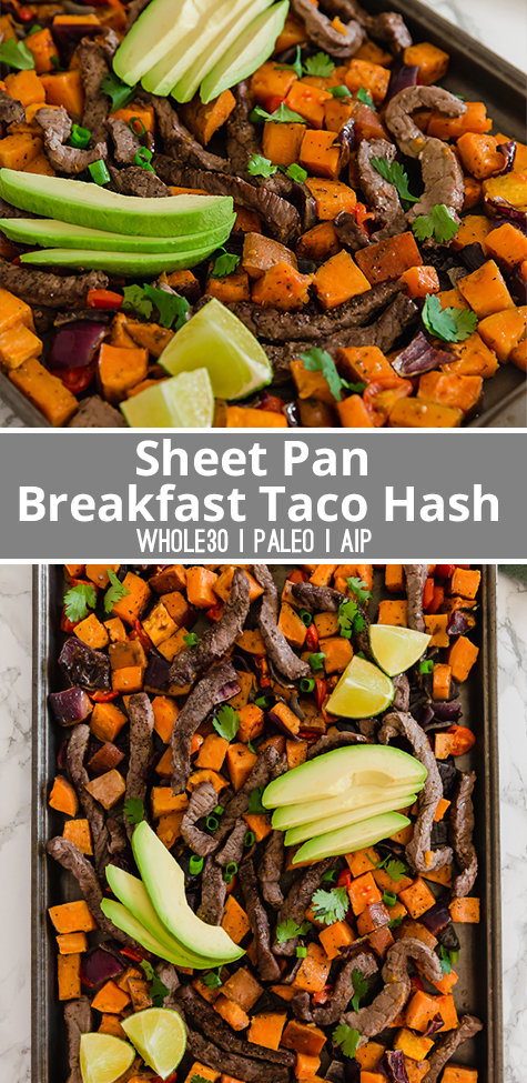 Sheet Pan Breakfast Taco Hash