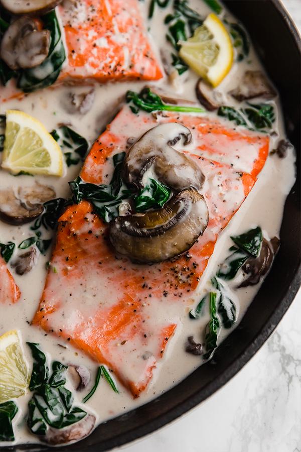 Creamy Salmon Florentine