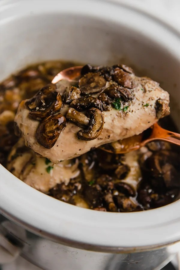 chicken marsala in the slow cooker