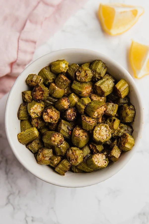 okra in bowl