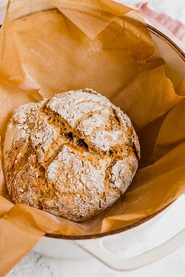 No-knead gluten free bread