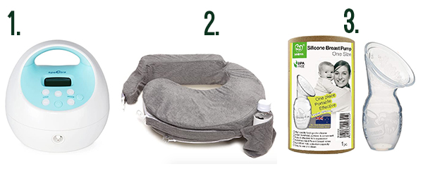 Breast pump and feeding pillow