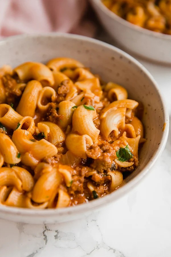 copycat hamburger helper in bowl