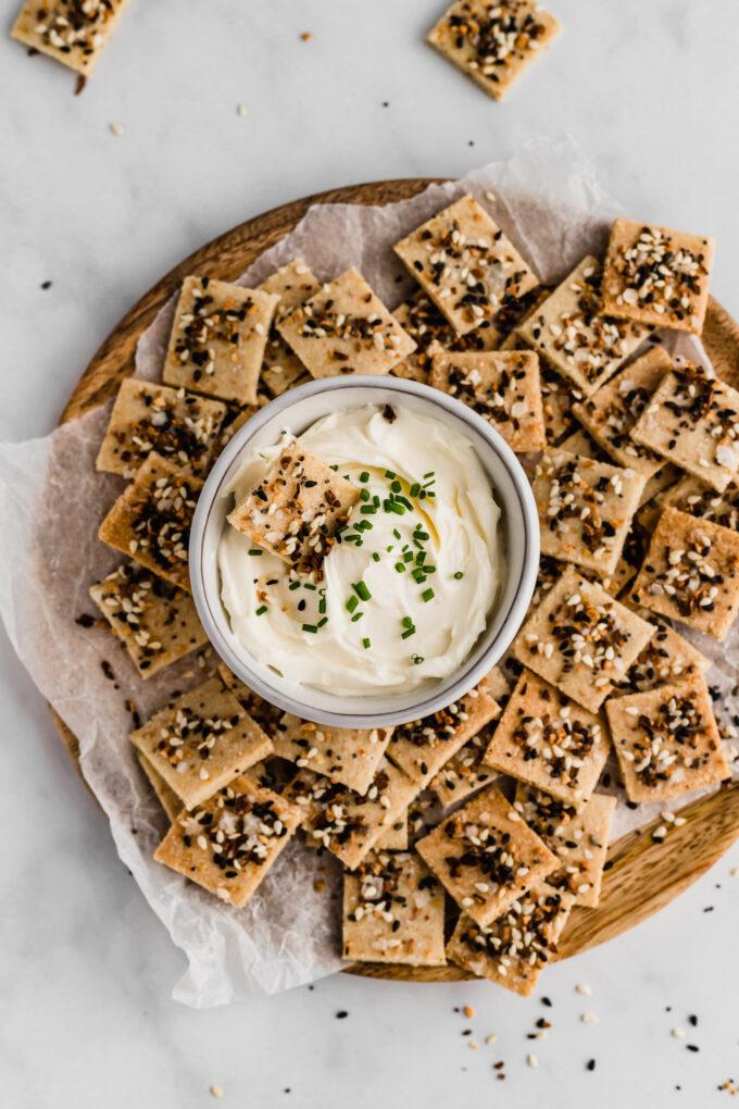 paleo everything bagel crackers