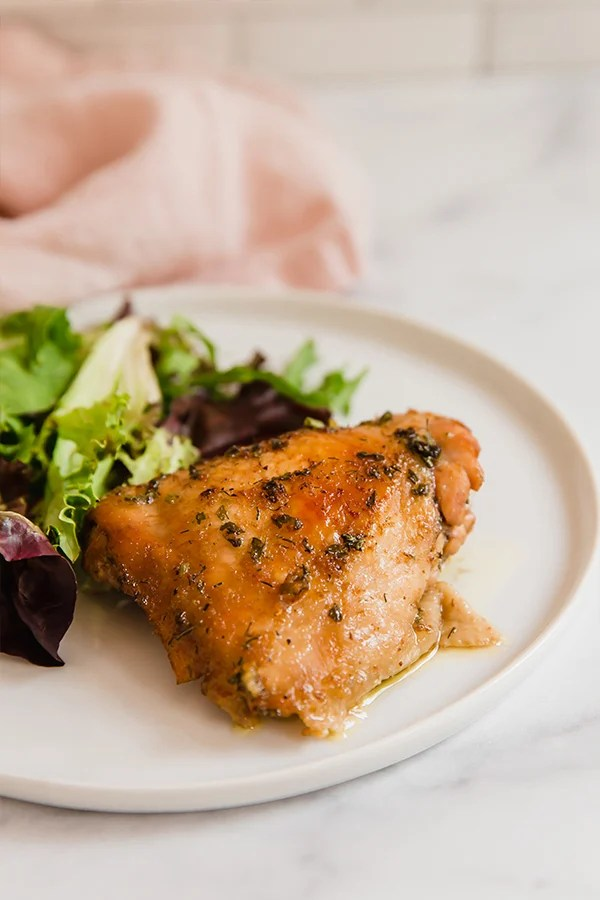 Chicken thighs with side salad
