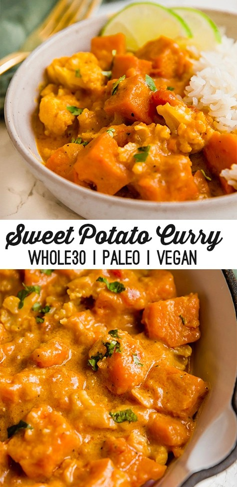 Sweet Potato Cauliflower Curry