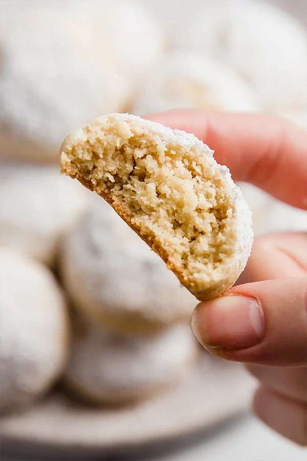 wedding cookie with a bite