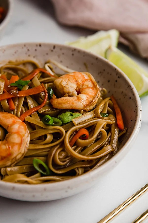 gluten free pad thai in bowl