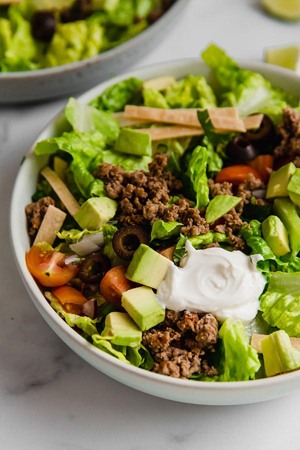 taco salad in bowl