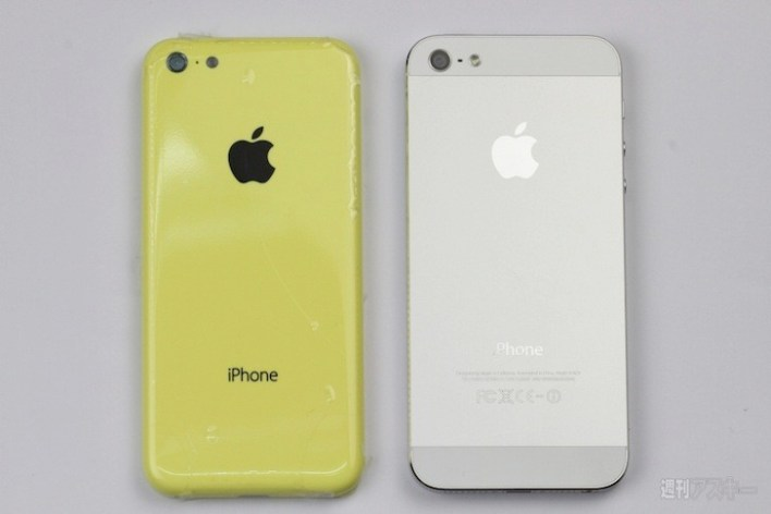 New iPhone 5C on the left
