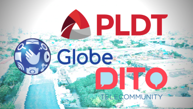 Three Philippine Telcos PLDT, Globe, and DITO