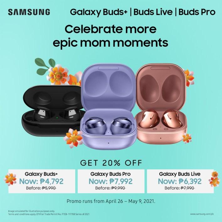 Nag-aalok ang Araw ng Ina ng Samsung ng Galaxy Buds