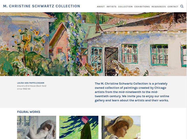 Screenshot of M. Christine Schwartz Collection website