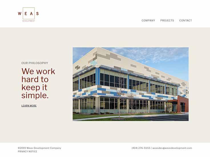 Screenshot of Weas Development website