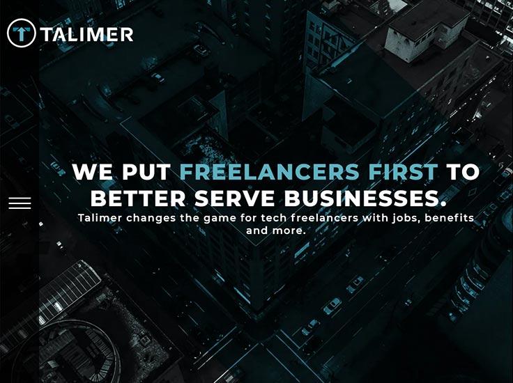 Screenshot of Talimer website
