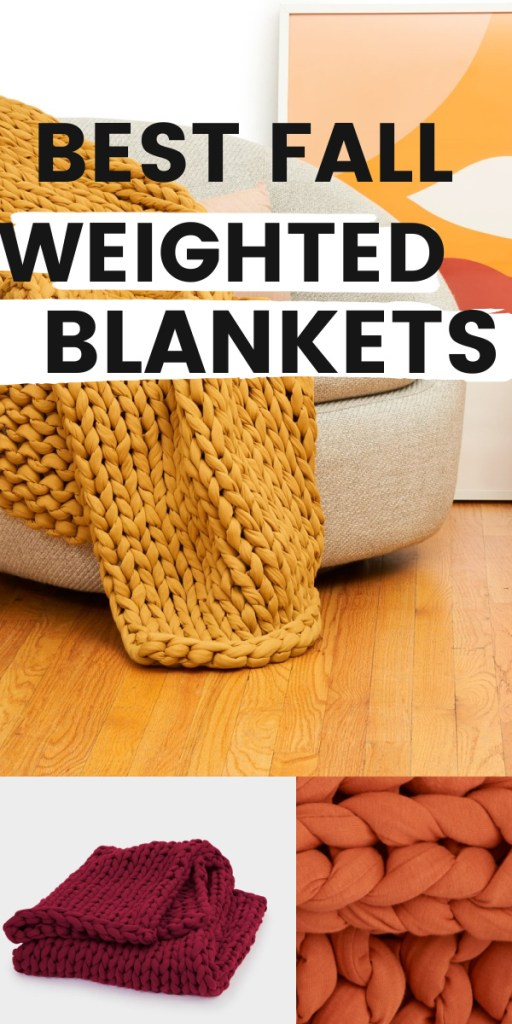 best weighted blankets fall colors
