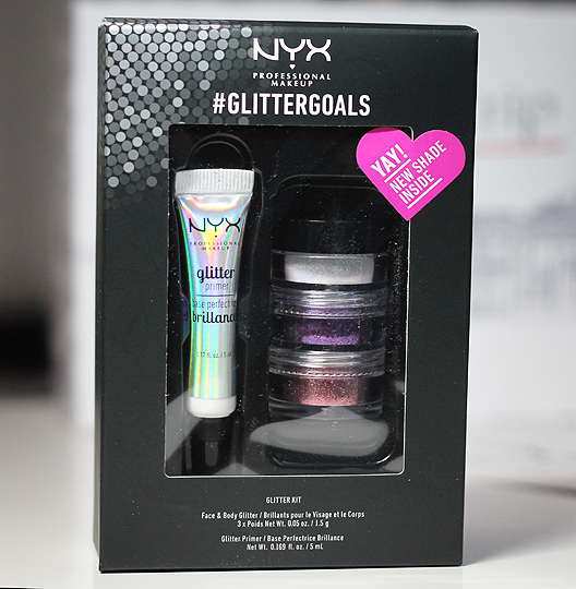 NYX - #Glittergoals Face and Body Glitter Set 03 inkl. Glitter Primer