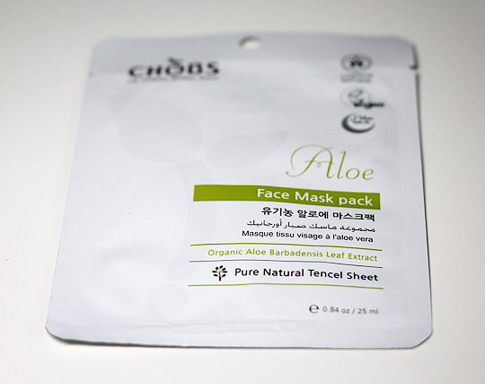 Chobs Aloe Face Mask Tuchmaske