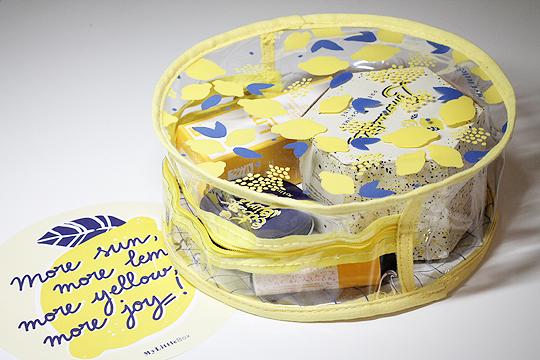 My Little Corner - Transparentes Täschchen im Zitronenlook