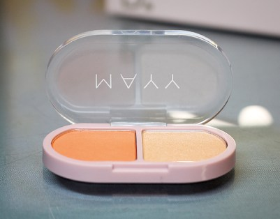 Coral Blusher and Sunkissed Highlighter