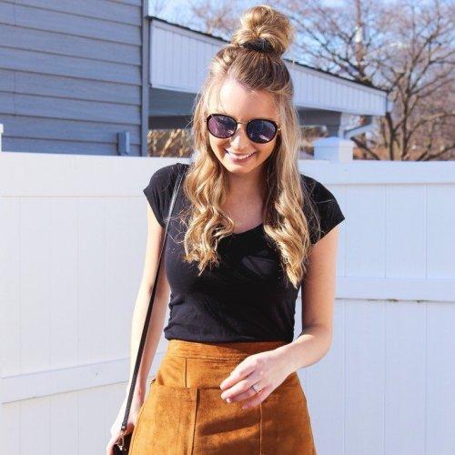Corduroy Skirt Candid