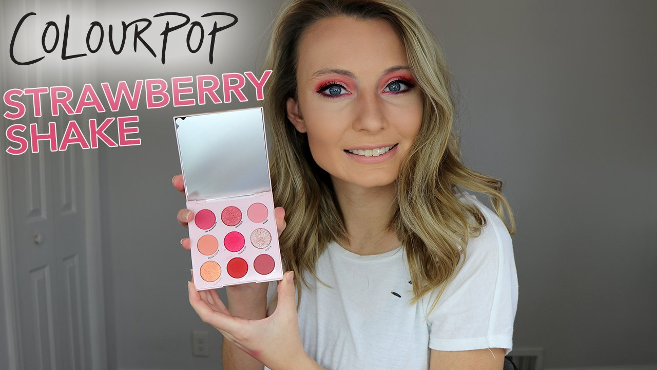 ColourPop Strawberry Shake palette: tutorial and review!