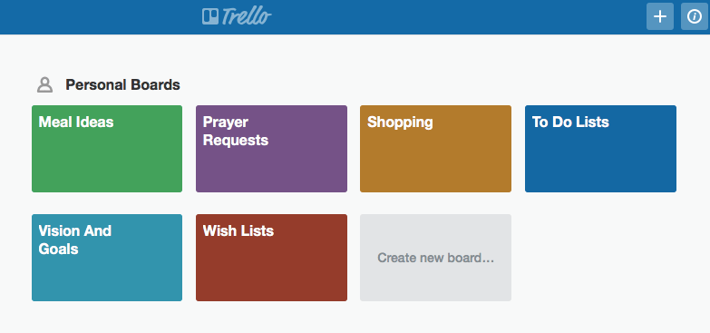 My trello boards