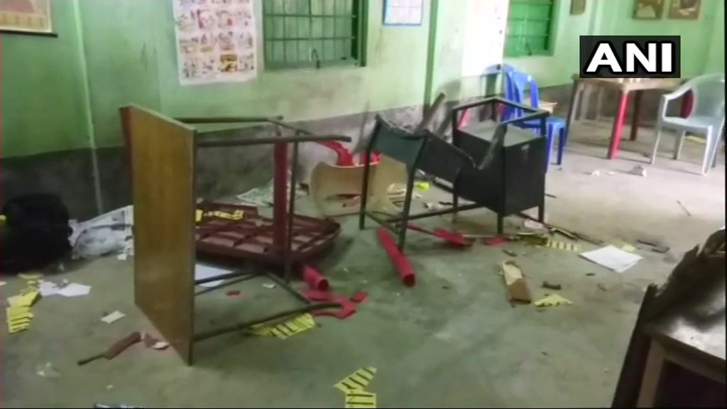 voting booth vandalised west bengal elections unbumf