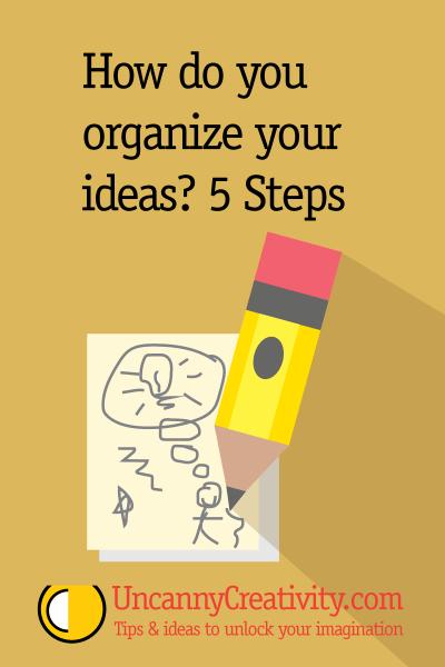 How do you organize your ideas? 5 Steps