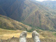Zapatos en la cima del mundo