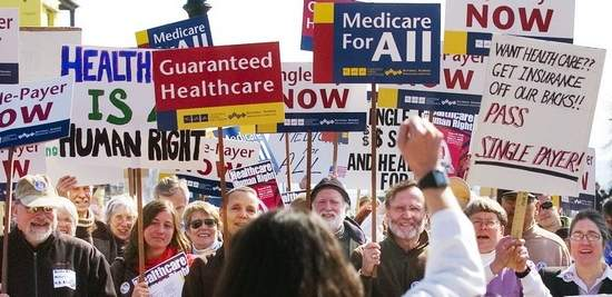 Image result for photos of rallies for healthcare