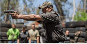 Alt text=south african farmers train in the use of firearms