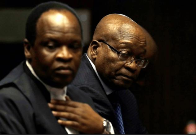 Adv Muzi Sikhakhane with Jacob Zuma at Pietermaritzburg Court