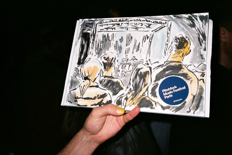 Bon Iver by illustrator Mat Let Uncertain Magazine Pitchfork Music Festival Paris