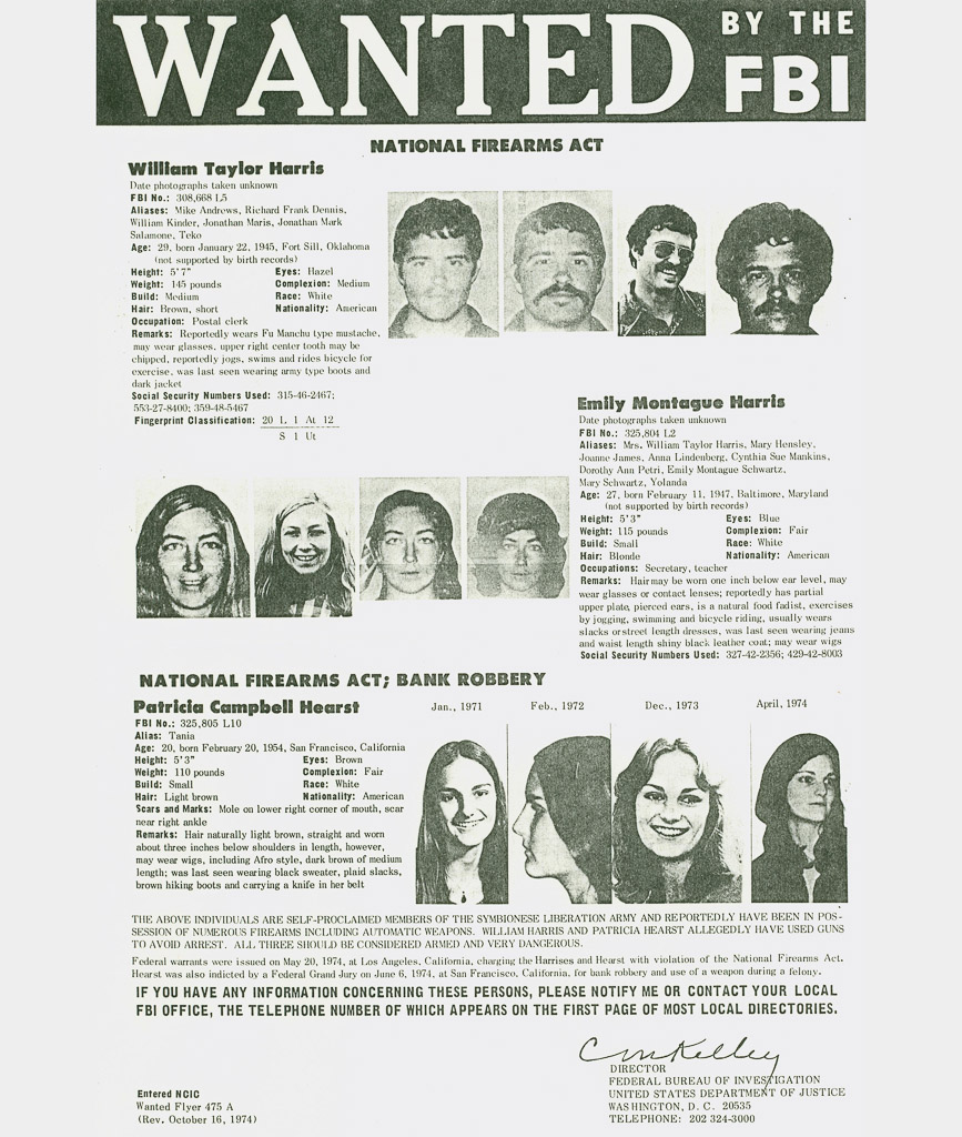 Wanted Poster for Symbionese Liberation Army Members Death To The Fascist Insect Spurl Editions John Brian King Uncertain Magazine